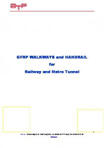 GFRP WALKWAYS and HANDRAIL for Railway and Metro Tunnel