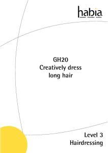 GH20 Creatively dress long hair