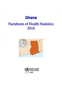 Ghana Factsheets of Health Statistics 2010
