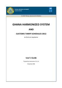 GHANA HARMONIZED SYSTEM