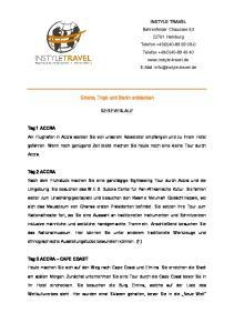 Ghana, Togo und Benin entdecken