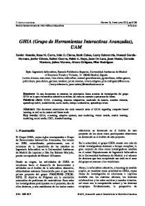 GHIA (Grupo de Herramientas Interactivas Avanzadas), UAM