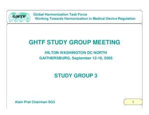 GHTF STUDY GROUP MEETING