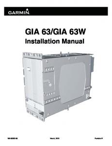 GIA 63W Installation Manual