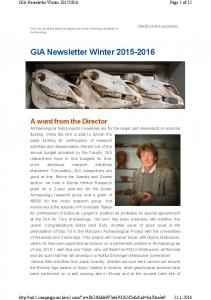 GIA Newsletter Winter