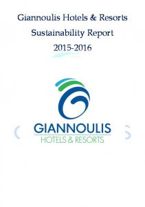 Giannoulis Hotels & Resorts Sustainability Report