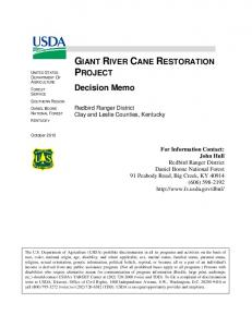 GIANT RIVER CANE RESTORATION PROJECT
