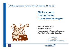 Gibt es noch Innovationen in der Windenergie?