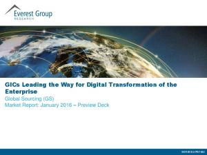 GICs Leading the Way for Digital Transformation of the Enterprise
