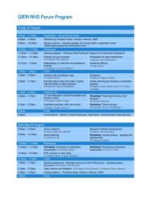 GIER RHD Forum Program