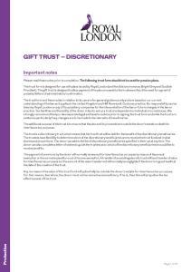 GIFT TRUST DISCRETIONARY
