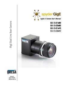 GigE Dual Line Scan Camera