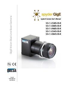 GigE Vision Dual Line Scan Camera