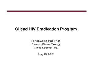 Gilead HIV Eradication Program