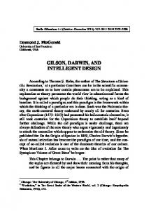 GILSON, DARWIN, AND INTELLIGENT DESIGN