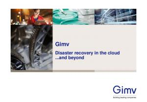 Gimv. Disaster recovery in the cloud...and beyond
