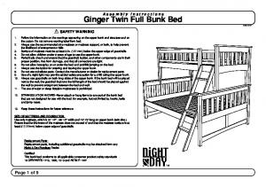 Ginger Twin Full Bunk Bed