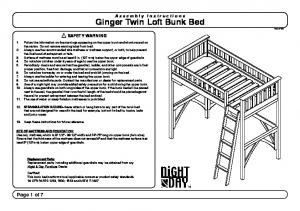 Ginger Twin Loft Bunk Bed