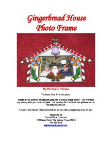 Gingerbread House Photo Frame