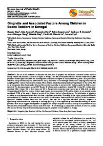 Gingivitis and Associated Factors Among Children in Boxes Toddlers in Senegal
