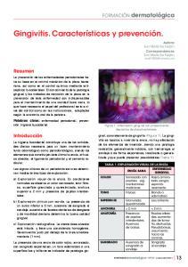 Gingivitis. Características y prevención