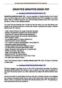 GIRAFFES GIRAFFES BOOK PDF