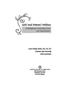 Girls and Women s Wellness Contemporary Counseling Issues and Interventions