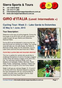 GIRO d ITALIA (Level: Intermediate +)