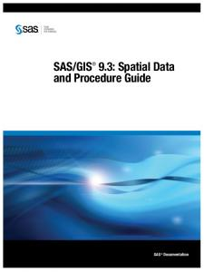 GIS 9.3: Spatial Data and Procedure Guide