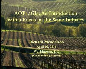 GIs: An Introduction with a Focus on the Wine Industry