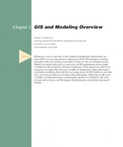 GIS and Modeling Overview
