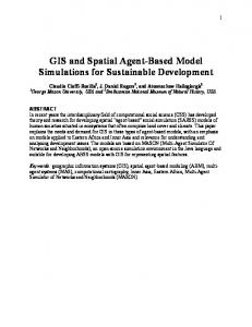 GIS and Spatial Agent-Based Model Simulations for Sustainable Development