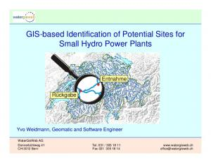 GIS-based Identification of Potential Sites for Small Hydro Power Plants