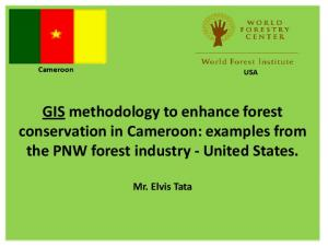 GIS methodology to enhance forest conservation in Cameroon: examples from the PNW forest industry - United States