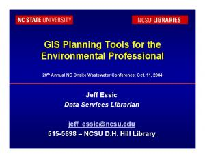 GIS Planning Tools for the Environmental Professional