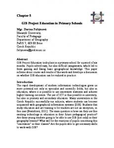 GIS Project Education in Primary Schools