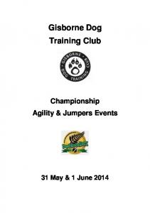 Gisborne Dog Training Club. Championship Agility & Jumpers Events