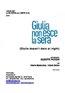 (Giulia doesn t date at night)