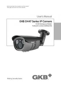 GKB D447 Series IP Camera HD IR Waterproof Bullet Network Camera (Brilliant IR)