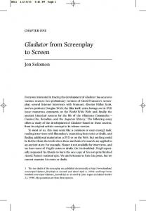 Gladiator from Screenplay to Screen