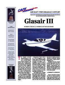 Glasair III CAFE FOUNDATION