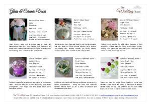 Glass & Ceramic Vases