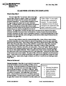 GLASS FIBER AND HEALTH COMPLAINTS