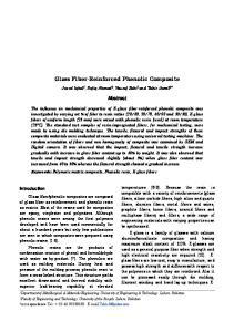 Glass Fiber-Reinforced Phenolic Composite