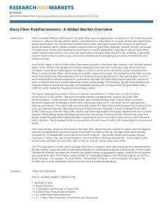 Glass Fiber Reinforcements - A Global Market Overview
