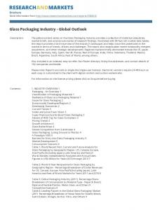 Glass Packaging Industry - Global Outlook