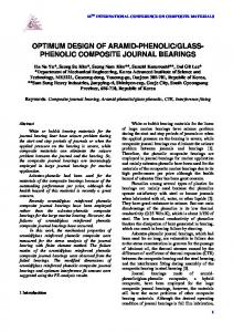 GLASS- PHENOLIC COMPOSITE JOURNAL BEARINGS