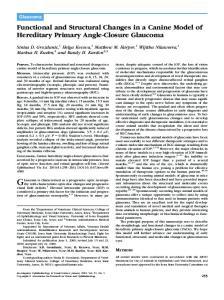 Glaucoma is characterized as a progressive optic neuropathy