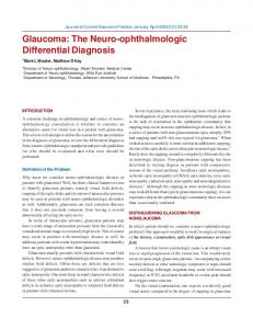 Glaucoma: The Neuro-ophthalmologic Differential Diagnosis