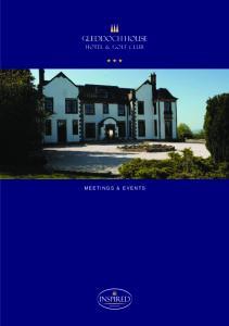 Gleddoch House. Hotel & Golf club MEETINGS & EVENTS